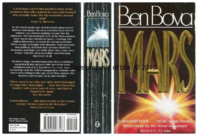 Mars: 2nd n the 'Grand Tour' series of books - Bova, Ben