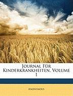 Journal F R Kinderkrankheiten, Volume 1
