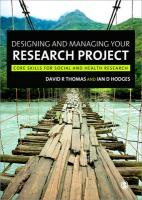 Designing and Managing Your Research Project