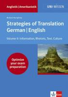 Strategies of Translation. German/ English II