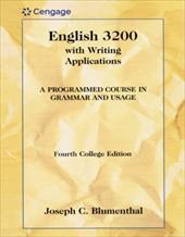 English 3200 with Writing Applications: A Programmed Course in Grammar and Usage - Blumenthal, Joseph C. / Heinle Publishiers