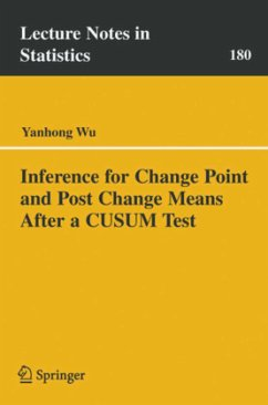 Inference for Change Point and Post Change Means After a Cusum Test - Wu Yanhong