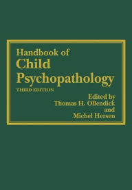Handbook of Child Psychopathology - Thomas H. Ollendick