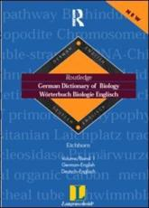 Routledge German Dictionary of Biology Vol. 1 - Manfred Eichhorn