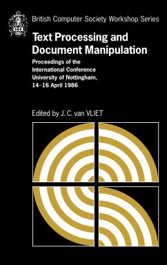 Text Processing and Document Manipulation - Vliet, J. C. van (ed.)