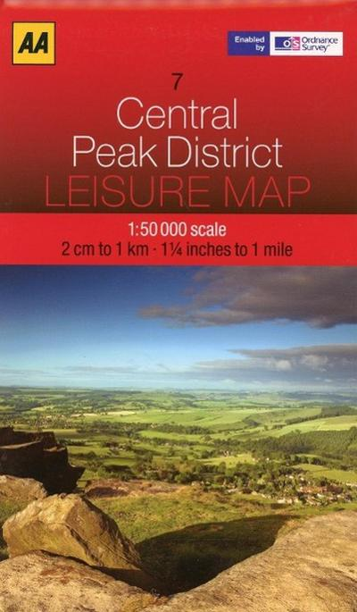 Leisure Map WK 07 Peak District 1 : 50 000