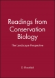 The Landscape Perspective (Readings from Conservation Biology) - David Ehrenfeld