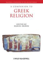 A Companion to Greek Religion (Blackwell Companions to the Ancient World)