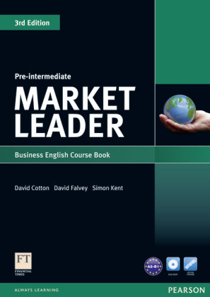 Market Leader Pre-Intermediate 3rd edition - Business English with the Financial Times (FT): Course Book with DVD-ROM - Level A2-B1 - Cotton, David / Falvey, David / Kent, Simon