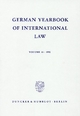 German Yearbook of International Law / Jahrbuch für Internationales Recht. - Jost Delbrück; Rainer Hofmann; Andreas Zimmermann