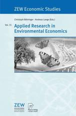 Applied Research in Environmental Economics - Bohringer, Christoph (EDT)/ Lange, Andreas (EDT)