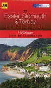 Leisure Map WK 22 Exeter, Sidmouth Torbay 1 : 50 000