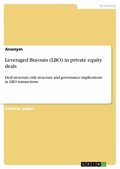 Leveraged Buyouts (LBO) in private equity deals - Anonym