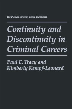 Continuity and Discontinuity in Criminal Careers - Tracy, Paul E. Kempf-Leonard, Kimberly