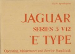 Jaguar Series 3 V12 (US) Handbook A181/2 - Brooklands Books Ltd