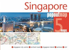 Singapore PopOut Map, 5 maps