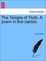 The Temple of Truth. A poem in five cantos. Second Edition - Renou, Sarah