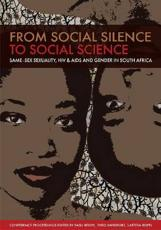 From Social Silence to Social Science - Reddy, Vasu (EDT)/ Sandfort, Theo (EDT)/ Rispel, Laetitia (EDT)