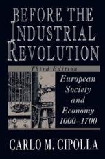 Before the Industrial Revolution - Carlo M. Cipolla