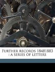 Further Records 18481883 - Fanny Kemble