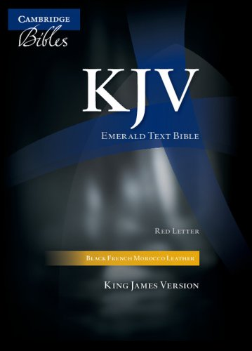 KJV Emerald Text Black French Morocco KJ533:TR - Baker Publishing Group