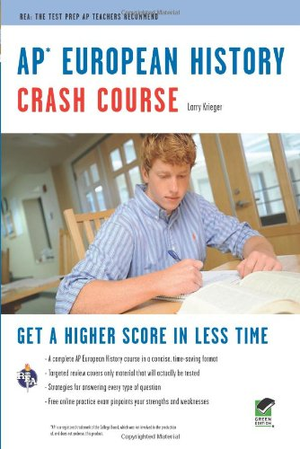 APr European History Crash Course Book + Online - Larry Krieger, Advanced Placement, European History Study Guides