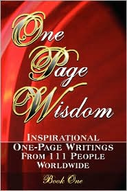 One Page Wisdom. Book One - New Age Directories, -. Jo Hopping -. Jo (Editor), -. Matthew Joh Corcoran -. Matthew John (Compiler)