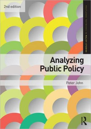 Analyzing Public Policy - Peter John