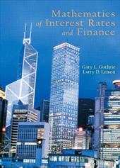 Mathematics of Interest Rates and Finance - Lemon, Larry / Guthrie, Gary L.