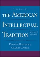The American Intellectual Tradition: Volume I: 1630-1865 - Hollinger, David A. / Capper, Charles