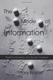 The Mode of Information: Poststructuralism and Social Context - Poster, Mark