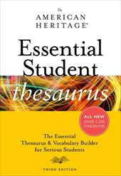 The American Heritage Essential Student Thesaurus - Houghton Mifflin Harcourt