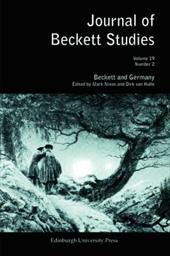 Journal of Beckett Studies, Volume 19: Beckett and Germany, Number 2 - Nixon, Mark / Van Hulle, Dirk