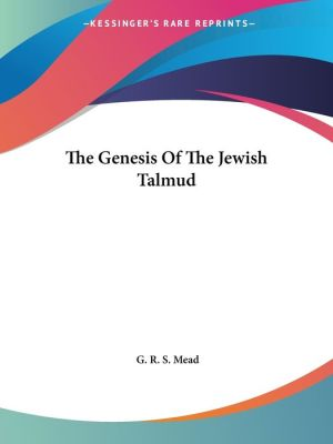 Genesis of the Jewish Talmud