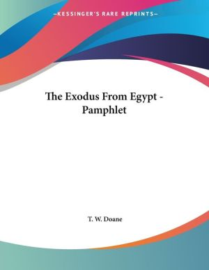 Exodus from Egypt - Pamphlet