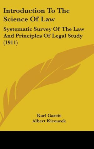 Introduction To The Science Of Law