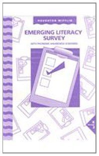 Houghton Mifflin The Nation's Choice: Emerging Literacy Survey, Grade K-2 - HOUGHTON MIFFLIN