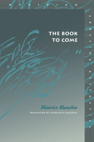 Book to Come - Maurice Blanchot