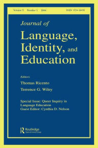 Queer Inquiry In Language Education Jlie V5#1 - Taylor and Francis