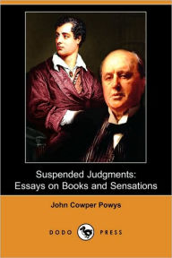 Suspended Judgments - John Cowper Powys