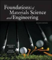 Foundations of Materials Science and Engineering W/ Student CD-ROM