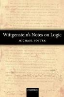Wittgenstein's Notes on Logic