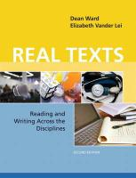 Real Texts: Reading and Writing Across the Disciplines (2nd Edition)