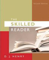 The Skilled Reader [With Myreadinglab]