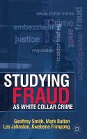 Studying Fraud as White Collar Crime