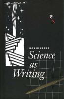 Science as Writing