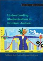 Understanding the Modernisation of Criminal Justice