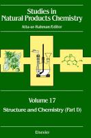 Studies in Natural Products Chemistry: Structure and Chemistry: Part D Vol 17