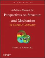 Perspectives on Structure and Mechanism in Organic Chemistry