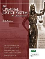 The Criminal Justice System: An Introduction, Fifth Edition